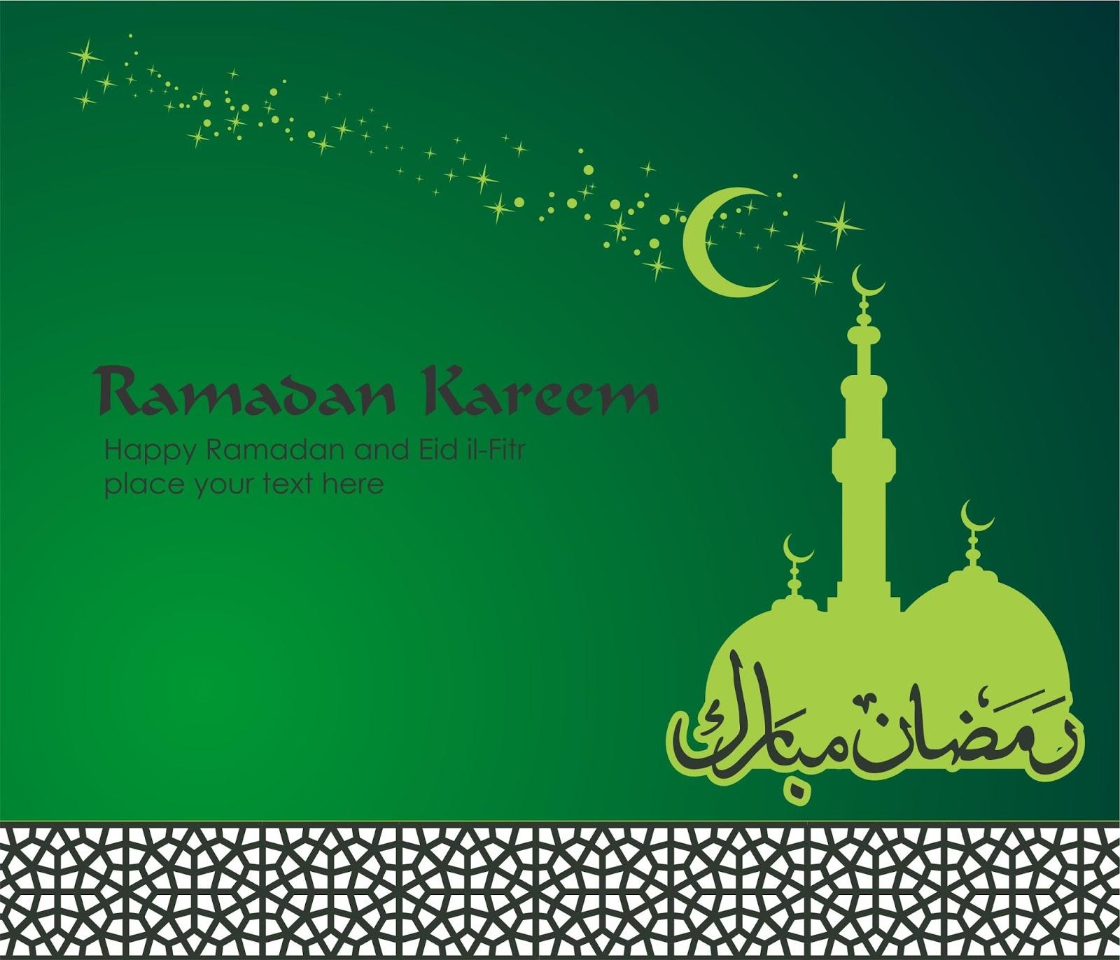 Vector Desain Ramadhan Dan Kartu Lebaran Idul Fitri