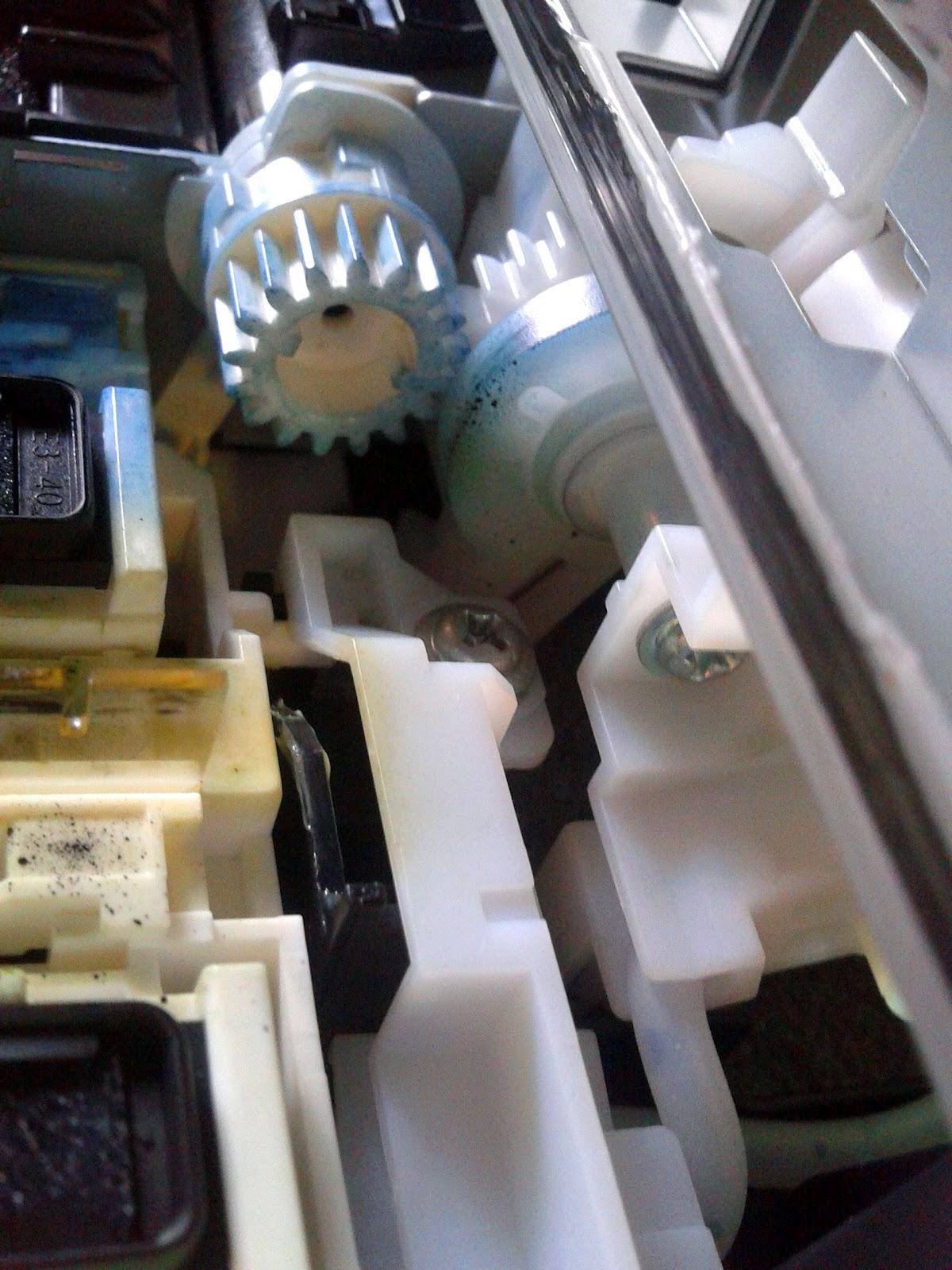 Pasang Infus Selang Pembuangan Printer Canon Mp 287 Gawianku Main Board Motherboard Tinta Warna Cmy Mp287 Posisi Berada Dibagian Dalam Bawah Mainboard